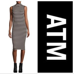 NWT ATM Stripe Jersey Dress